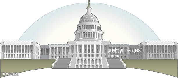 capitol building - house of representatives stock illustrations
