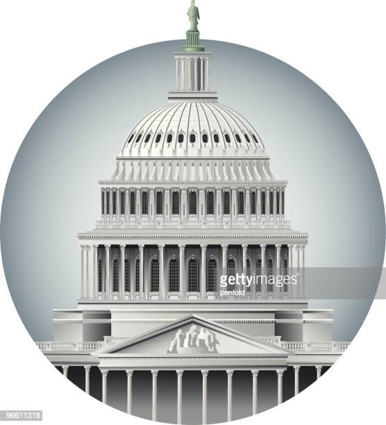 capitol dome - architectural dome stock illustrations, clip art, cartoons, & icons