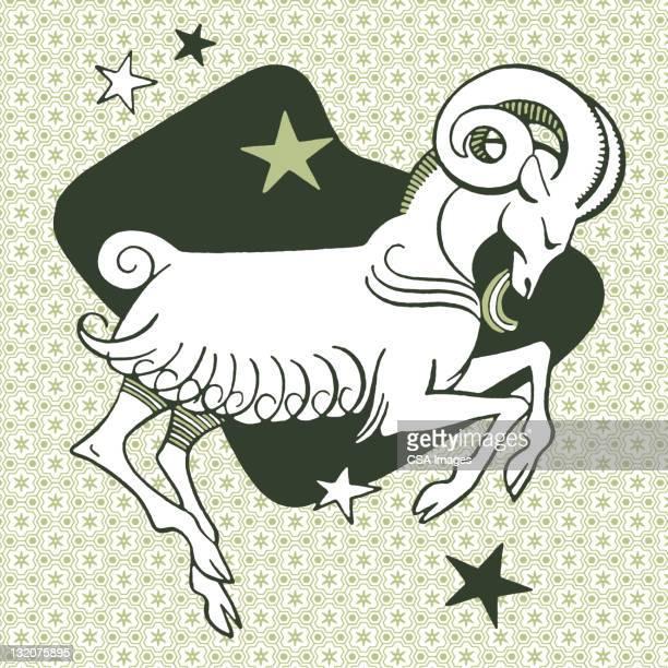 capricorn symbol - ram animal stock illustrations, clip art, cartoons, & icons