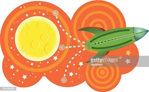 capsule orbiting space