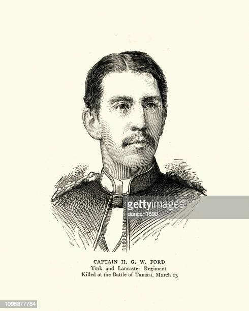 captain h. g. w. ford, british army, casualty mahdist war - team captain stock illustrations