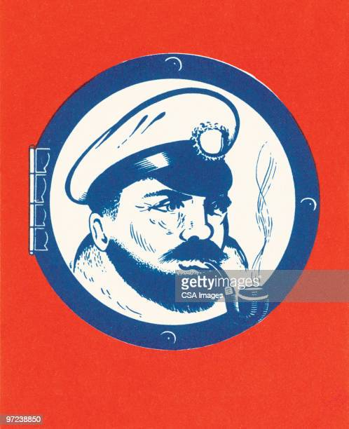 captain - boat captain stock illustrations, clip art, cartoons, & icons
