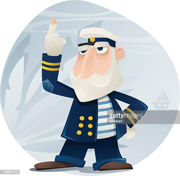 captain sog e. bottom - boat captain stock illustrations, clip art, cartoons, & icons