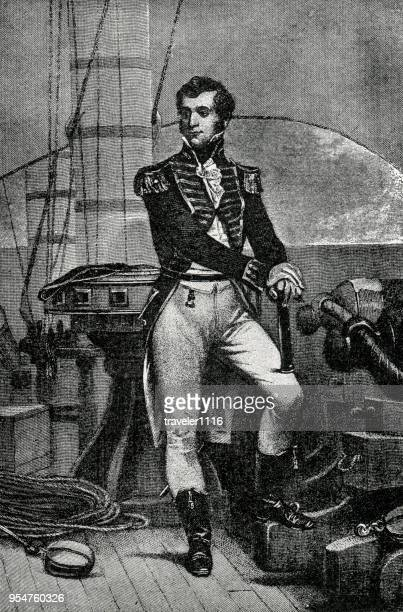 captain stephen decatur - war of 1812 - stehen stock illustrations