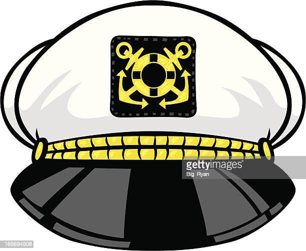 captains hat - boat captain stock illustrations, clip art, cartoons, & icons