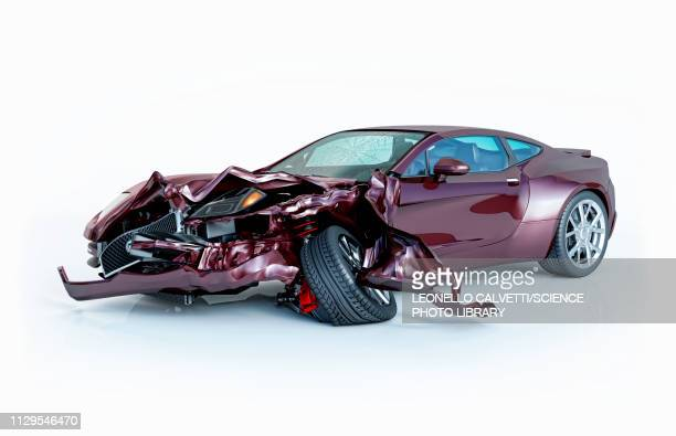 car accident damage, illustration - graphic car accidents stock illustrations