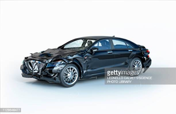 car accident damage, illustration - broken stock illustrations, clip art, cartoons, & icons