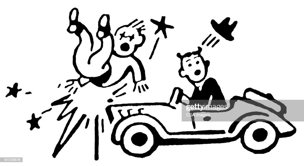 Car Accident Stock Illustration | Getty Images
