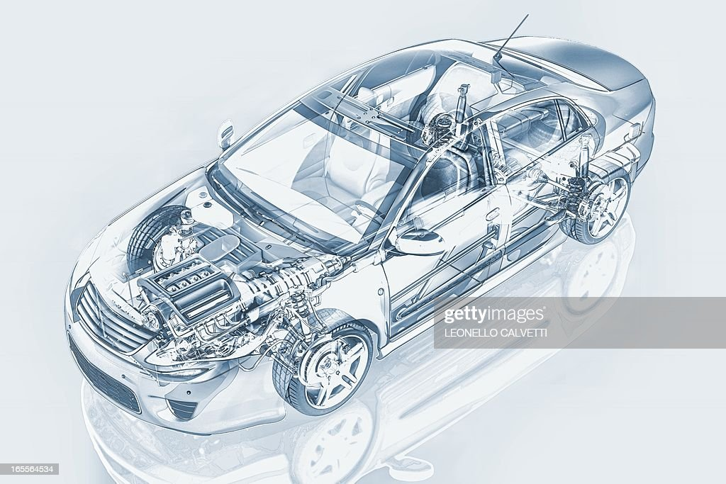 Car, artwork : stock illustration