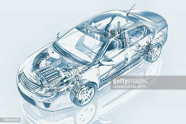 car, artwork - vehicle hood stock illustrations, clip art, cartoons, & icons