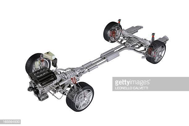car chassis, artwork - chassis stock illustrations
