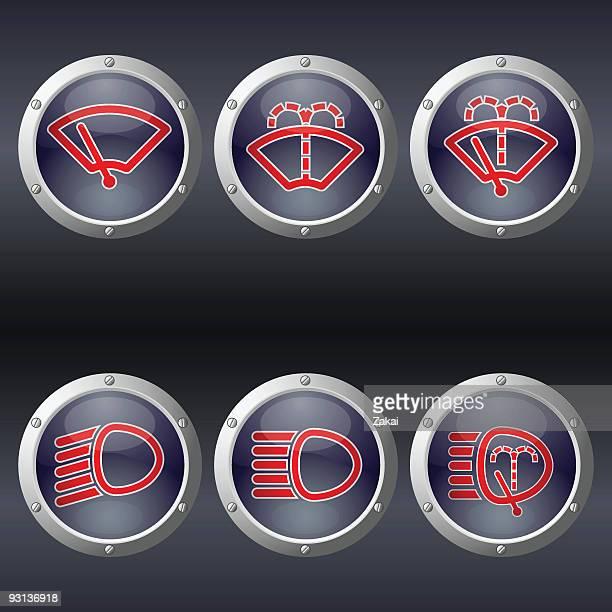 Car Dasboard Buttons