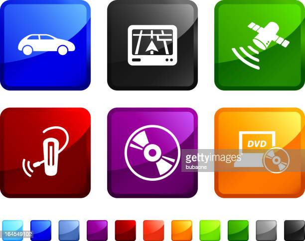 car electronics royalty free vector icon set stickers