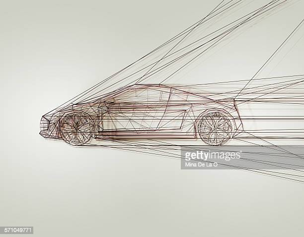 car lines on white - artistic product stock illustrations