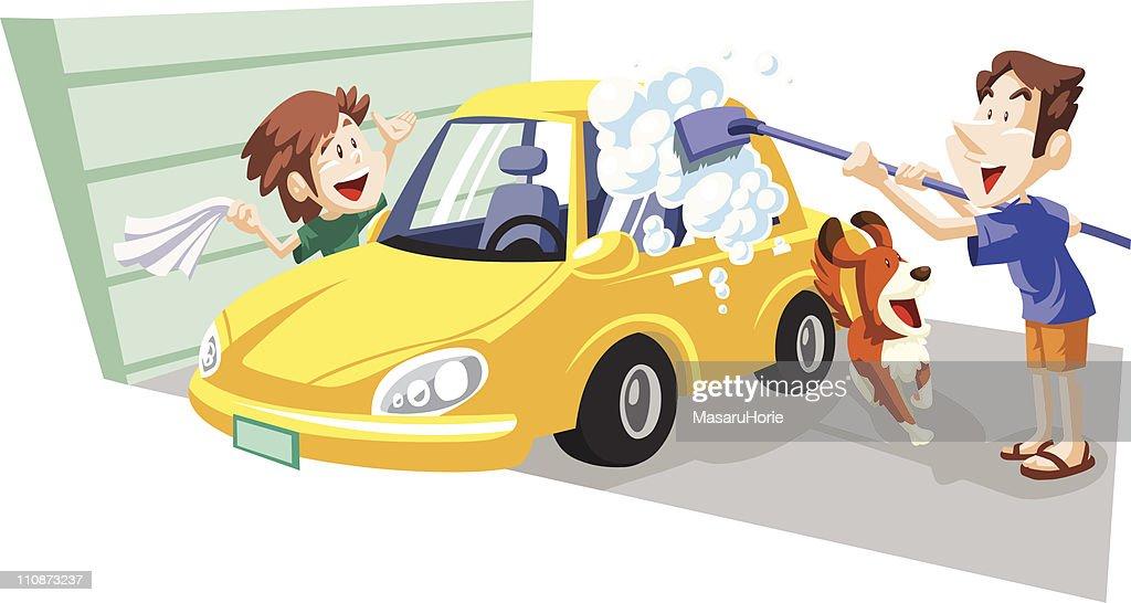 Car wash on holiday