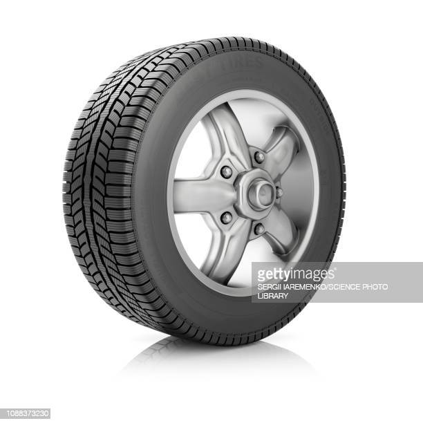 car wheel, illustration - tire vehicle part stock illustrations, clip art, cartoons, & icons
