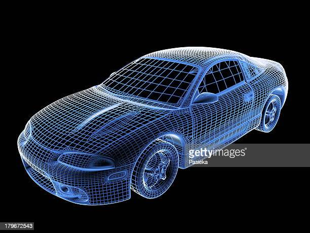 Car, wireframe