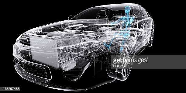 car with driver, artwork - transportation stock illustrations