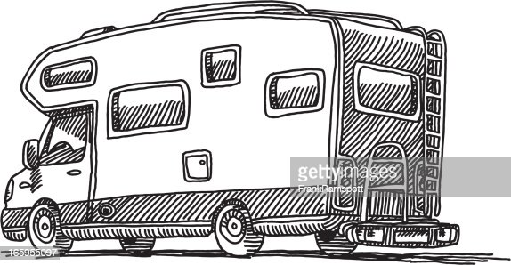 Caravan Mobile Home Drawing Vector Art Getty Images