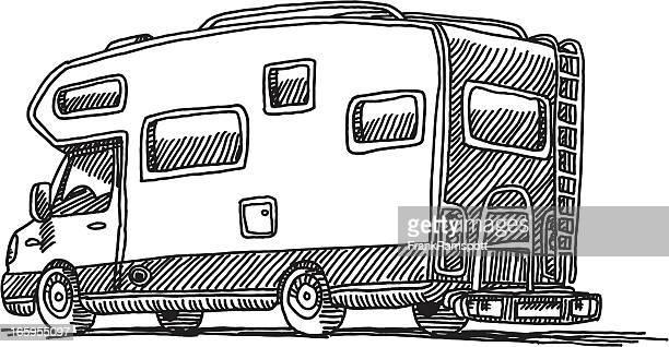 Caravan Campingwagen Zeichnung