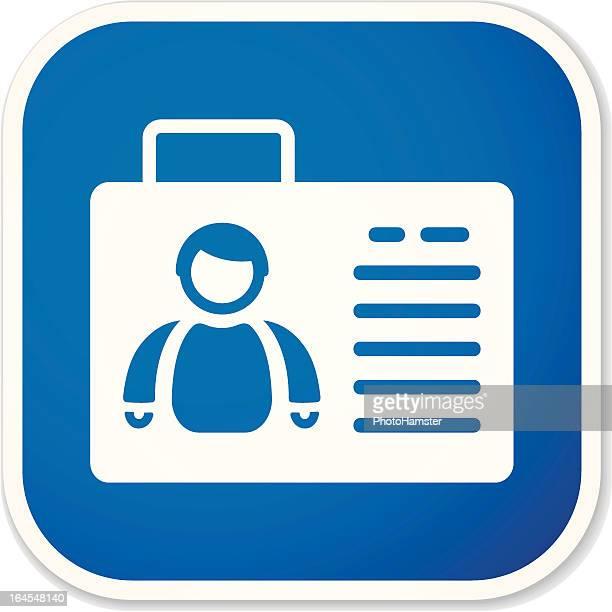 ID card sq sticker