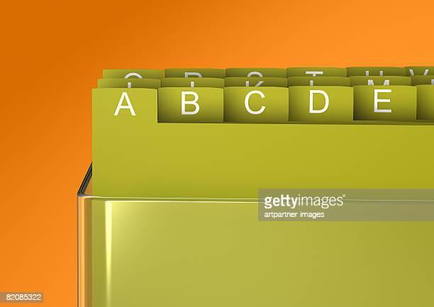 cardbox - the alphabet stock illustrations