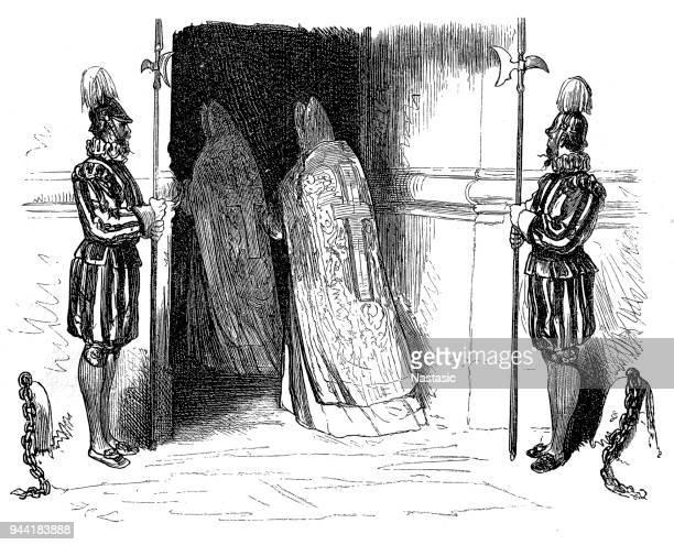 Cardinal entering Vatican door