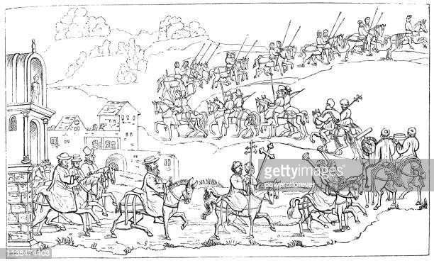 Cardinal Thomas Wolsey and Entourage Leaving London, England - 16th Century