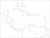 Caribbean line map.