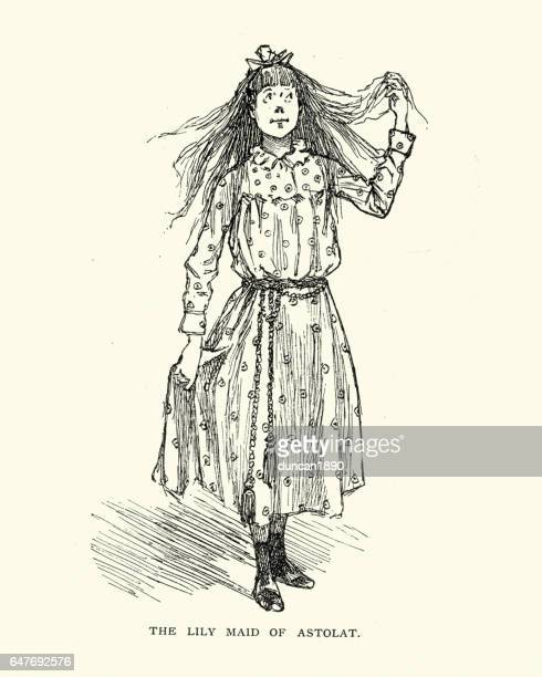 Caricature of a young victorian girl