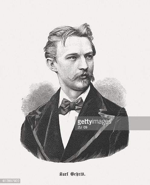 carl gehrts (1853-1898), german painter, wood engraving, published in 1882 - fine art portrait stock illustrations, clip art, cartoons, & icons