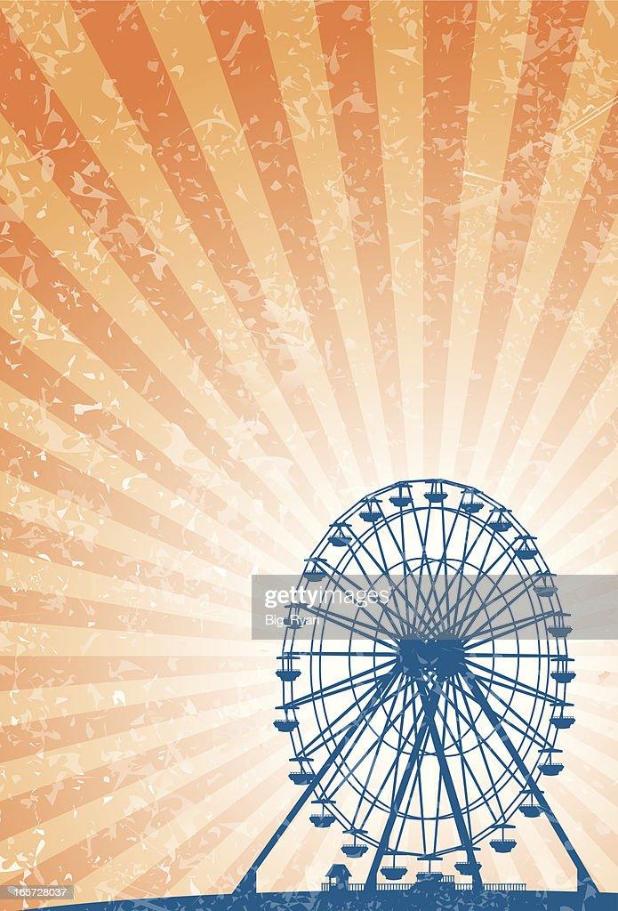 carnival ferris wheel : stock illustration