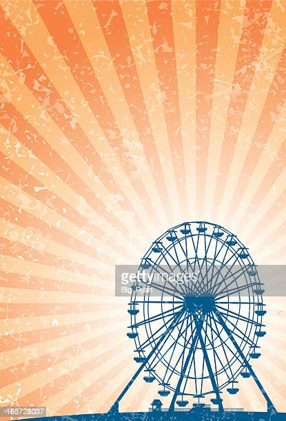 carnival ferris wheel - ferris wheel stock illustrations, clip art, cartoons, & icons