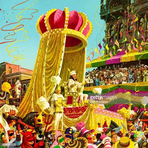 carnival parade - parade stock illustrations