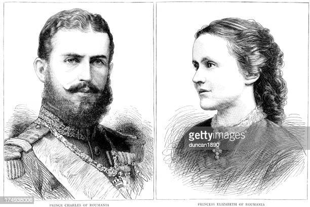 Carol I of Romania and His Wife