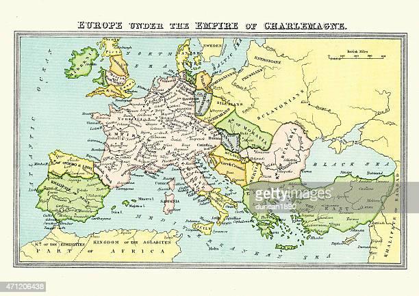 Carolingian Empire - Map of Europe Under Charlemagne