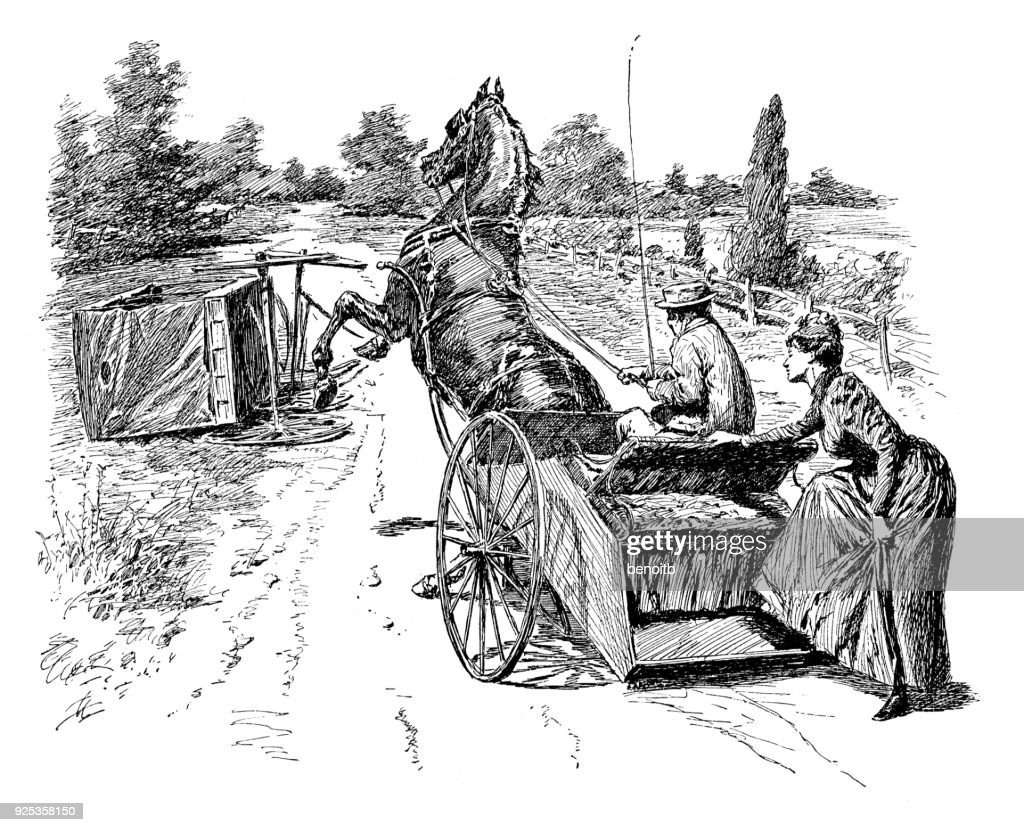 Carriage Accident Stock Illustration | Getty Images