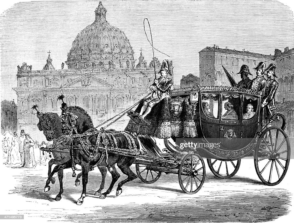 carriage : stock illustration