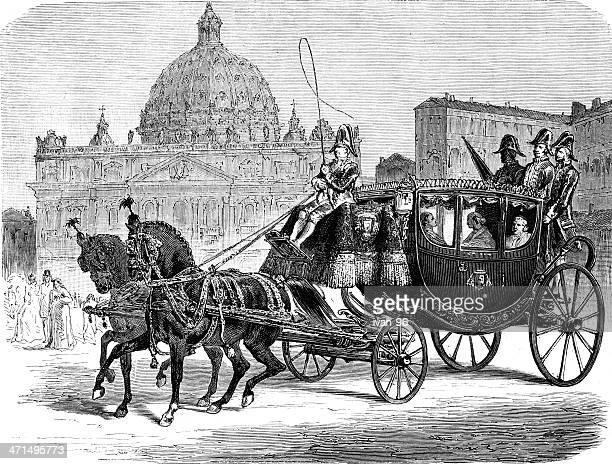 ilustrações de stock, clip art, desenhos animados e ícones de carruagem - st. peter's basilica the vatican