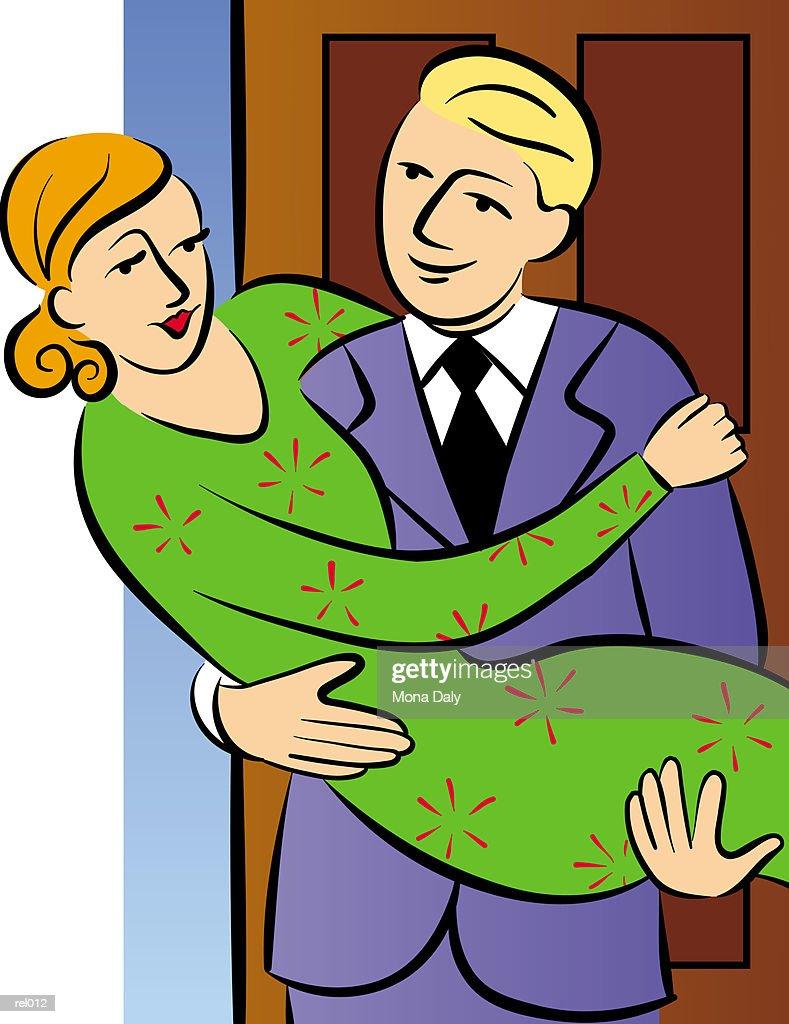 Carrying the Bride : Ilustração de stock