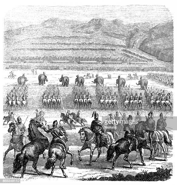 carthagist troops before battle - sicily stock illustrations, clip art, cartoons, & icons