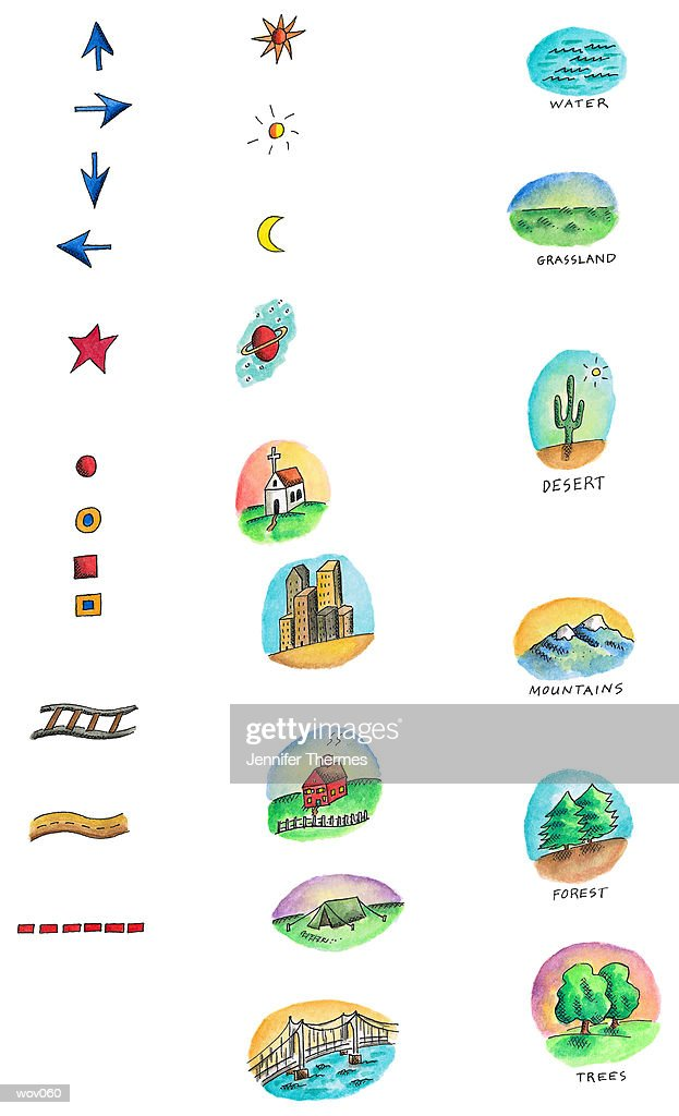 Cartography Icons : Stock Illustration