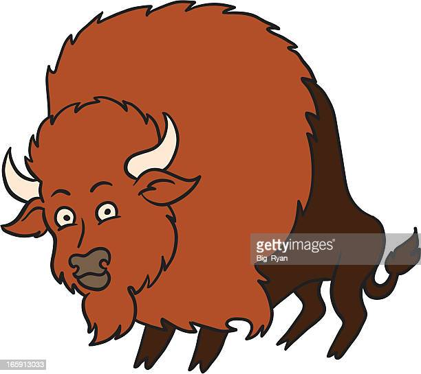 cartoon bison