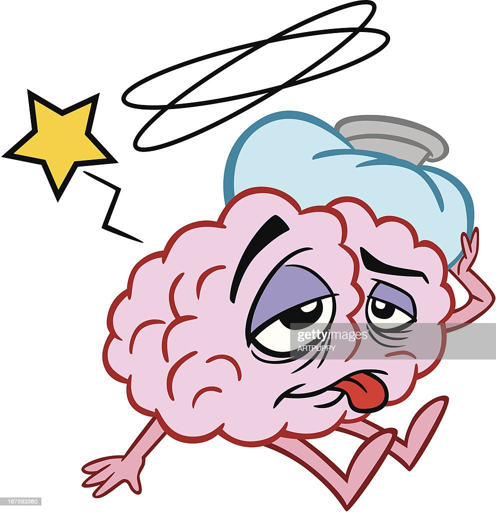 Cartoon Brain Sick High Res Vector Graphic Getty Images