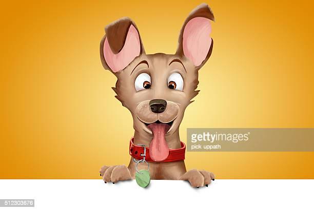 cartoon dog - tongue stock illustrations, clip art, cartoons, & icons