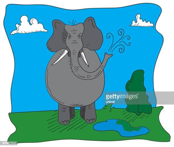 cartoon elephant - cartoon characters with big noses stock illustrations, clip art, cartoons, & icons