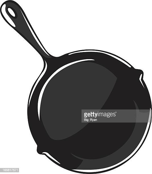 cartoon frying pan - frying pan stock illustrations
