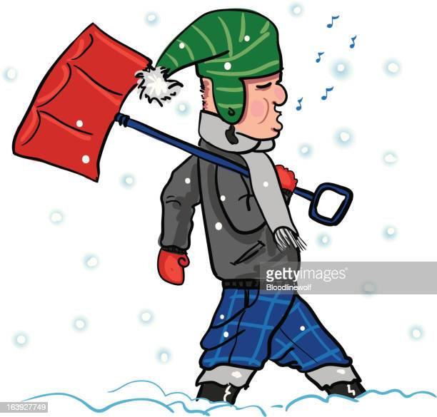 snow shovel stock illustrations and cartoons getty images