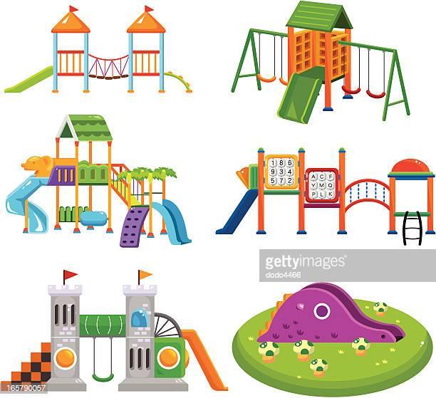 カットイラスト、公園の遊び場