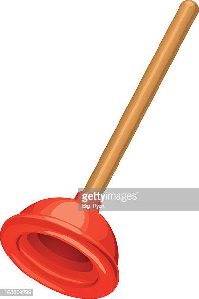 cartoon plunger - plunger stock illustrations, clip art, cartoons, & icons